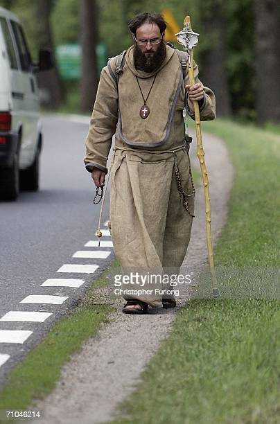 A pilgrim who has walked from Czechslovakia makes his way to Krakow to see Pope Benedict XVI on May 25 Wadowice Poland Warsaw gave an enthusiastic...