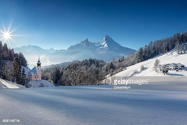 Pilgrimage Church Maria Gern with Watzmann in background