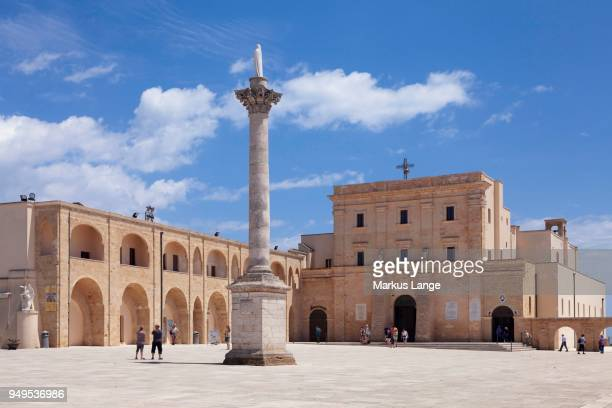 pilgrimage church of st. maria de finibus terrae, santa maria di leuca, province of lecce, salentine peninsula, apulia, italy - place of worship stock pictures, royalty-free photos & images