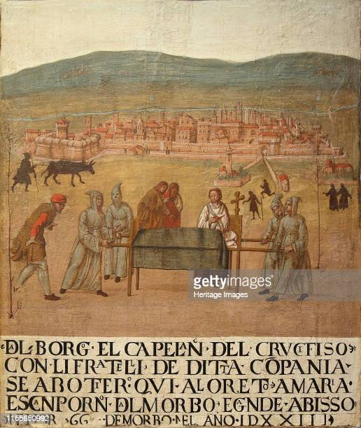 Pilgrimage of the Compagnia del Crocifisso to Loreto on the occasion of the plague of 1523 First Half of 16th cen Found in the Collection of Museo...