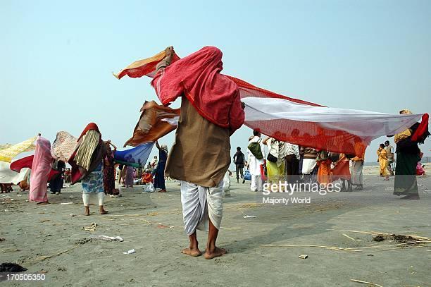 Pilgrimage of the Ganga Sagar Mela at the confluence of the Bay of Bengal Kolkata India January 14 2007