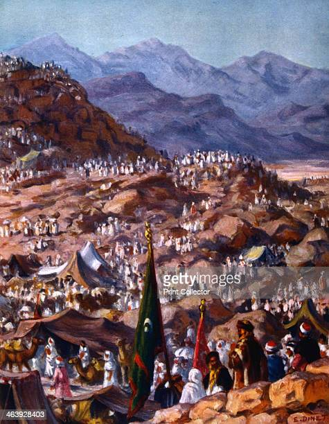 'Pilgrims' 1918 Illustration for La Vie de Mohammed Prophete d'Allah by Etienne Dinet and Sliman Ben Ibrahim