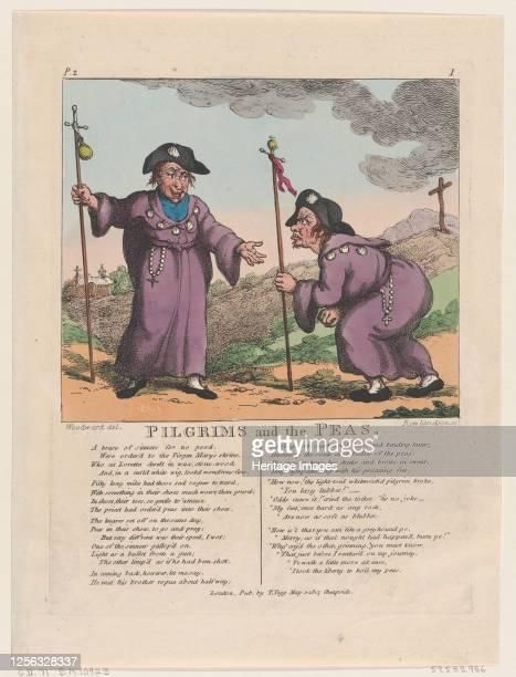 Pilgrims and the Peas May 1 1807 Artist Thomas Rowlandson
