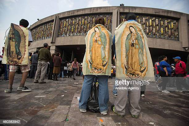 Pilgrims arrive at the Basilica of Guadalupe on Our Lady of Guadalupe's feast day in Mexico City Mexico on December 12 2014