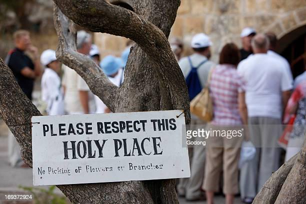 Pilgrims at Dominus Flevit Jerusalem