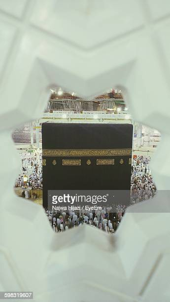 pilgrims at kaaba - mecca stock photos and pictures