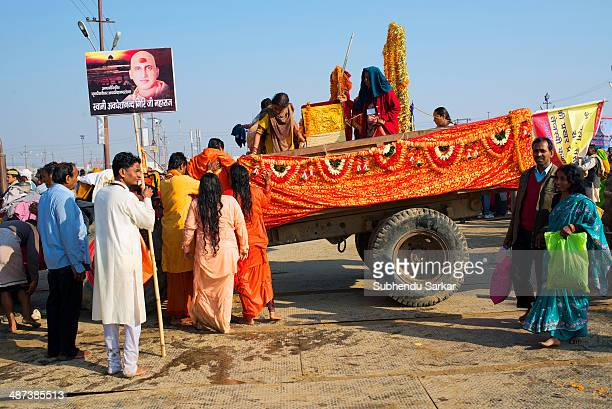 Pilgrims at Maha Kumbh mela. Kumbh Mela is a site of mass pilgrimage in which Hindus gather at a sacred river for a holy dip. It is held once in...