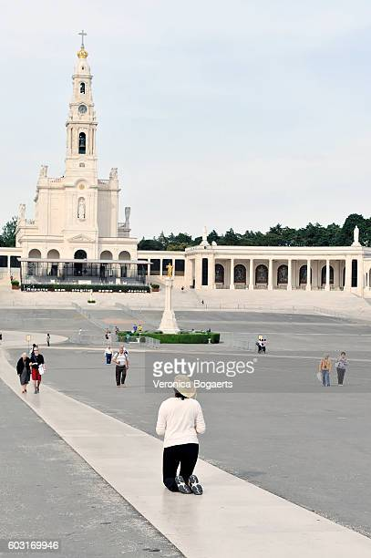 Pilgrims at Sanctuary Our Lady of Fatima in Portugal