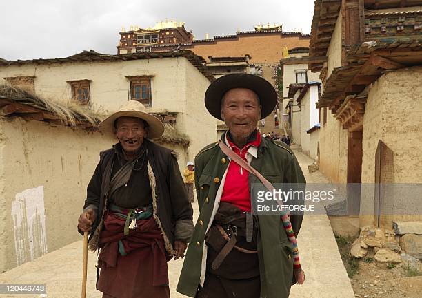 Pilgrims at Songzanlin Temple in Zhongdian, China on August 05, 2007.