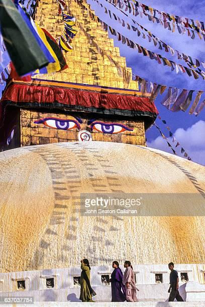 Pilgrims at Swayambhunath Temple