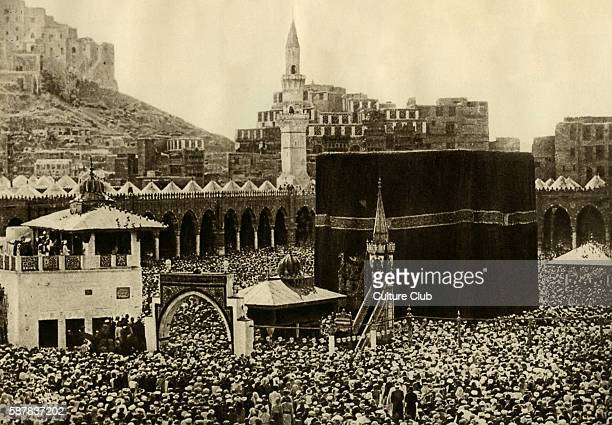 Pilgrims at the Kaaba Mecca Saudi Arabia the most sacred site in the Islamic religion