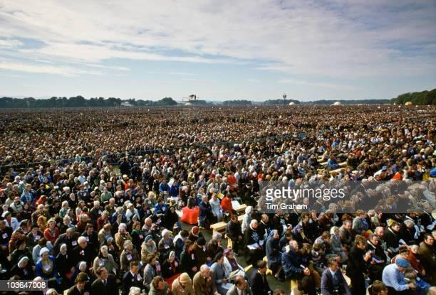 Pilgrims Attend Mass during Pope John Paul II's vsit to Ireland on September 29 1979 in Knock Ireland