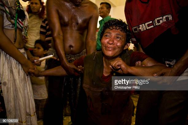 Pilgrims attend the annual celebrations of the patron saint of Managua Santo Domingo The event takes place throughout the 2nd Sunday of August...