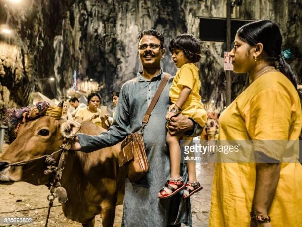 Pilgrims attending Thaipusam festival in Batu Caves Malaysia