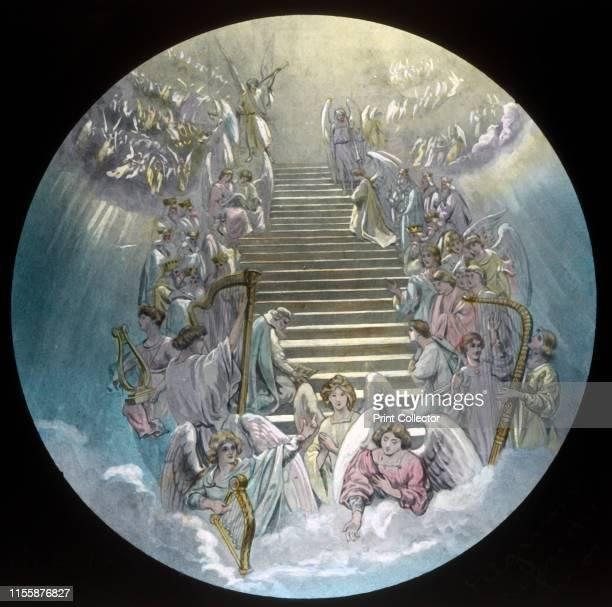 "Pilgrims before the Throne', circa 1910. Scene from ""The Pilgrim's Progress"", by John Bunyan. Glass lantern slide produced by the Church Army Lantern..."
