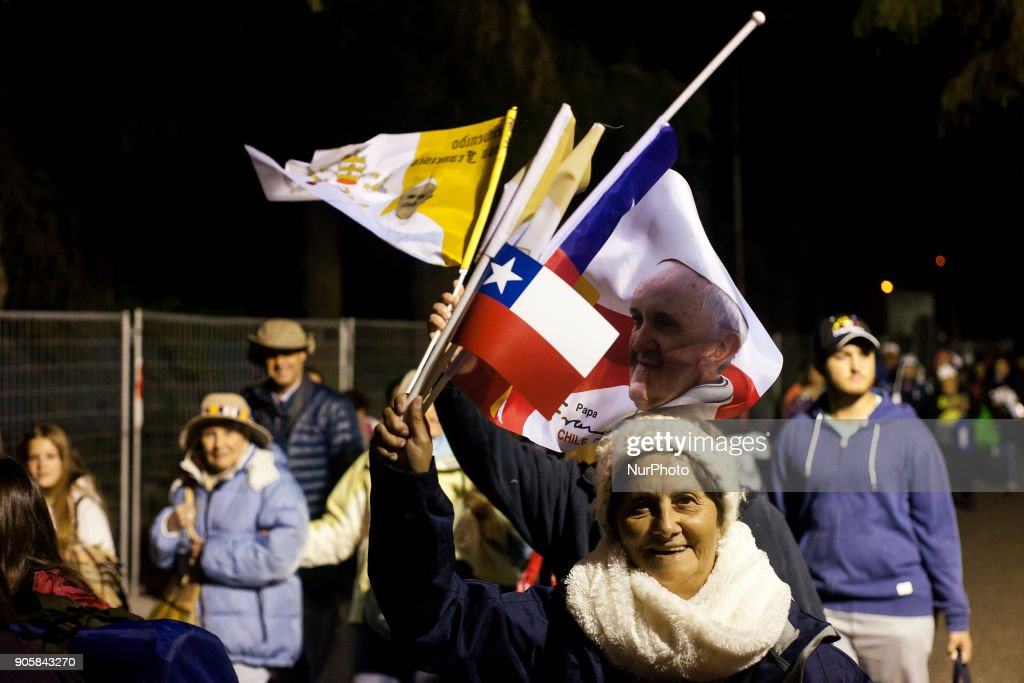 Pilgrims from different parts Latin America  attend Pope Francis  in Temuco