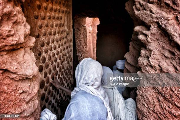 Pilgrims entering the Biete GabrielRufael During the first days of January thousands of Ethiopian Orthodox Christian pilgrims go to the city of...