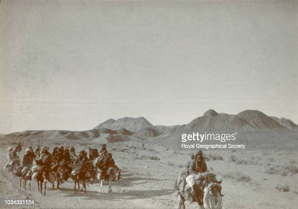 Pilgrims for Mecca marching along the road from KuhiMalek Siah Ziaral to Robul Jhana Iran 1736