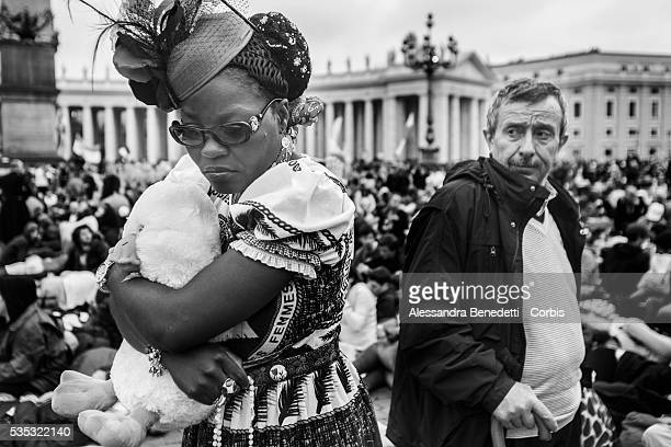 Pilgrims gather in St Peter's Square during the historical canonization of Jonh Paul II and John XXIIIThe double canonisation of two of modernday...