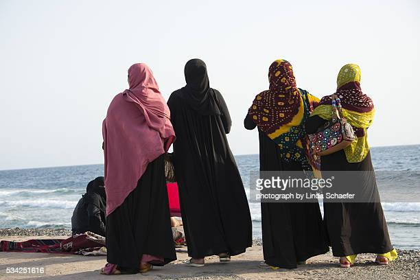 Pilgrims gazing at Red Sea in Jeddah