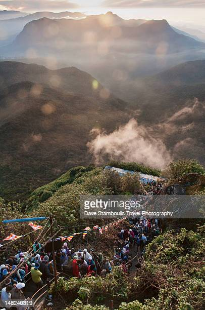 Pilgrims head to summit on Adam's Peak