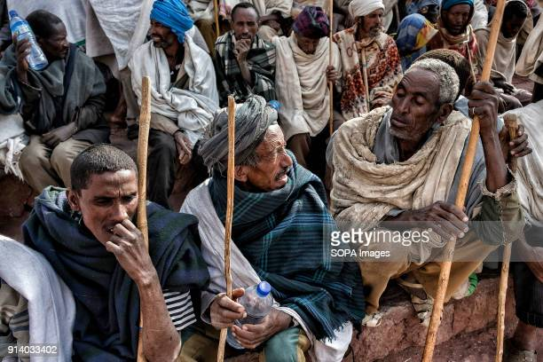 Pilgrims in Lalibela During the first days of January thousands of Ethiopian Orthodox Christian pilgrims go to the city of Lalibela to visit the 'New...