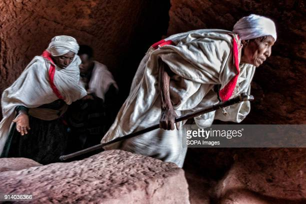 Pilgrims leaving the Biete GabrielRufael During the first days of January thousands of Ethiopian Orthodox Christian pilgrims go to the city of...