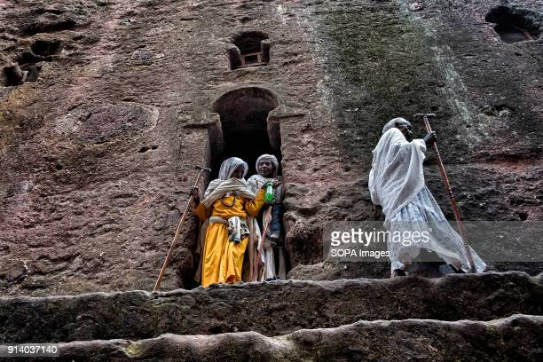 Pilgrims leaving the Biete Meskel During the first days of January thousands of Ethiopian Orthodox Christian pilgrims go to the city of Lalibela to...