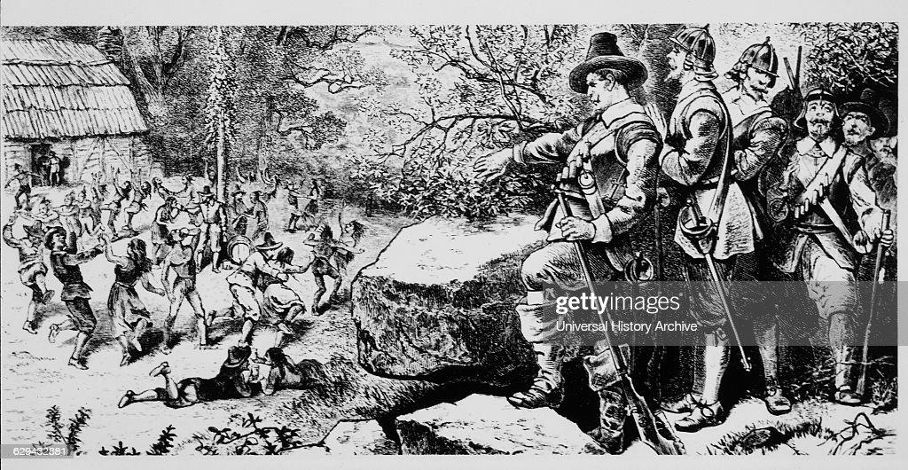 Thomas Morton Colonists Merrymount : News Photo
