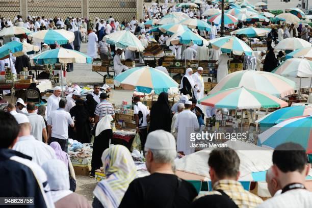 Pilgrims on streets during Hajj in Saudi Arabia