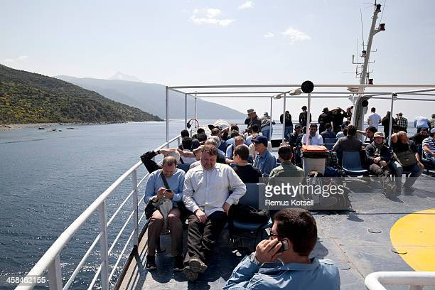 Pilgrims on the way to Athos
