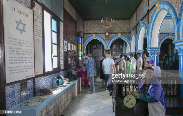 Pilgrims participate in an annual Jewish pilgrimage to the El Ghriba Synagogue the oldest Jewish monument built in Africa on Tunisia's island of...