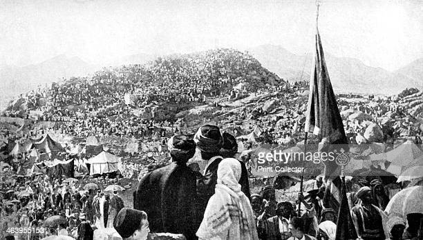 Pilgrims performing the 'Wukuf' Mount Arafat Saudi Arabia 1922 From Peoples of All Nations Their Life Today and the Story of Their Past volume IV...