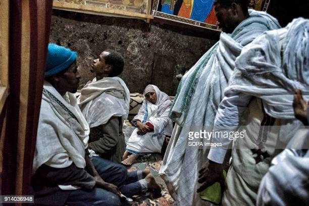 Pilgrims praying in the Biete GabrielRufael During the first days of January thousands of Ethiopian Orthodox Christian pilgrims go to the city of...