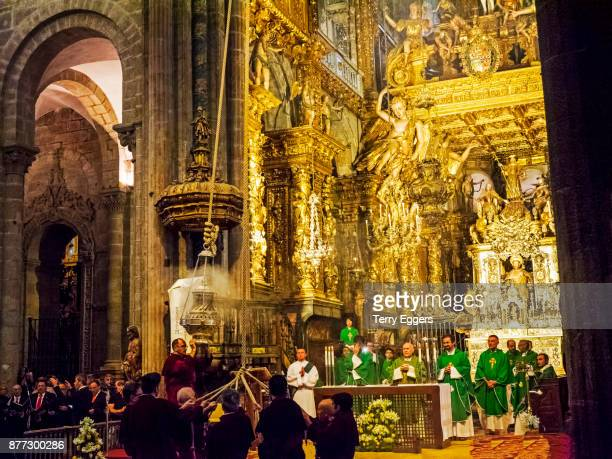 Pilgrims Sevice and the Swinging of the Botafumeiro