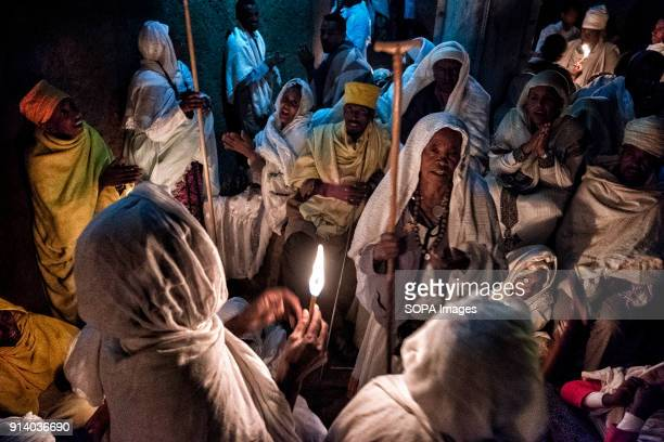 Pilgrims singing at night outside the Biete Medhane Alem During the first days of January thousands of Ethiopian Orthodox Christian pilgrims go to...