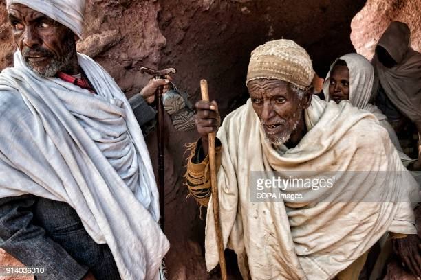 Pilgrims walking through one of the tunnels that connect the churches in Lalibela During the first days of January thousands of Ethiopian Orthodox...
