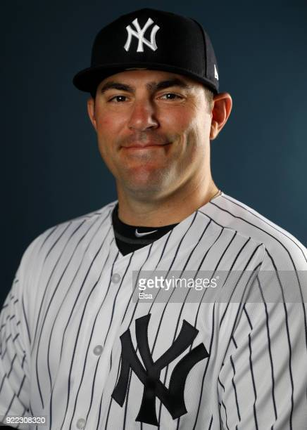 J Pilittere of the New York Yankees poses for a portrait during the New York Yankees photo day on February 21 2018 at George M Steinbrenner Field in...