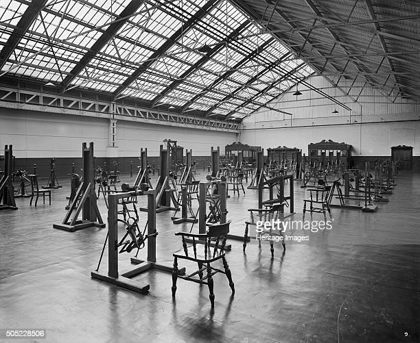 Pilkington Special Hospital Borough Road St Helens Lancashire September 1918 Looking towards the lower end of the hall for mechanotherapy at...