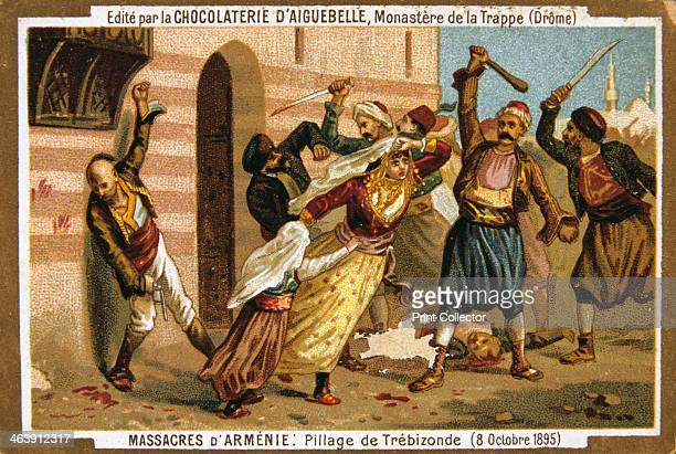 Pillage of Trebizond 8 October 1895 Carnage in Trebizond or TrabzonTurkey Scene from the Massacres of Armenia card series produced by the chocolate...