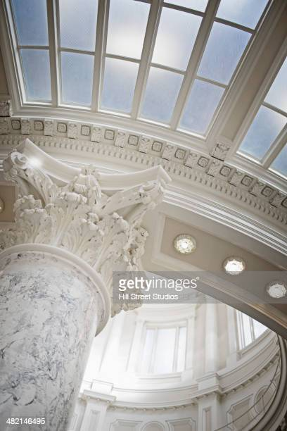 Pillar and skylight in government building