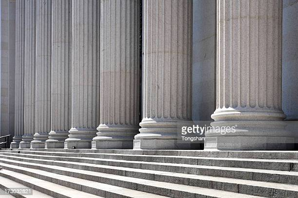 pillars and steps - column stock pictures, royalty-free photos & images