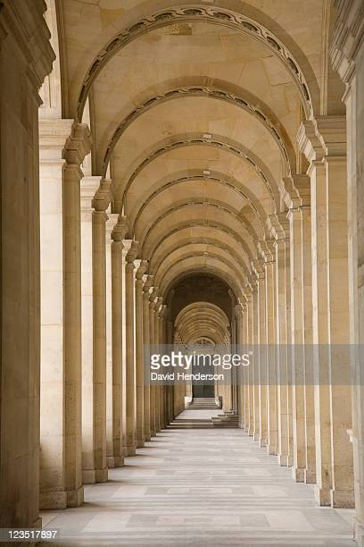 pillars, odeon theatre, paris, france - cloister stock pictures, royalty-free photos & images