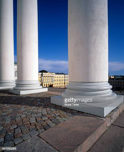 Pillars of a church in Helsinki