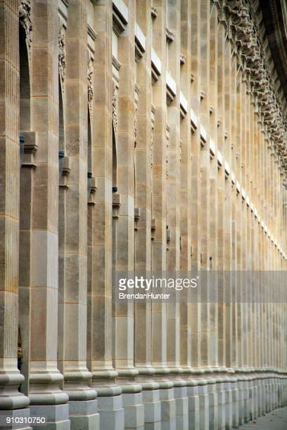 pillars of the arcade - palais royal stock pictures, royalty-free photos & images