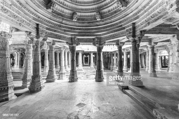 1444 pillars - jain temple stock photos and pictures
