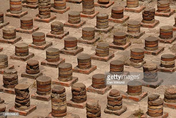 pillars taking heat - beirut stock pictures, royalty-free photos & images