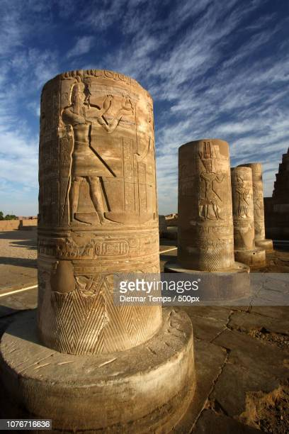 pillars, temple in egypt - dietmar temps stock photos and pictures