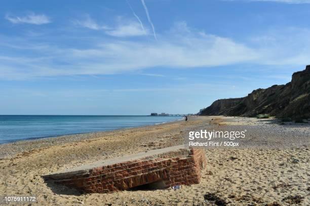 WW2 pillbox on the beach near Cromer, Norfol