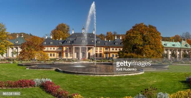 Pillnitz Castle (Schloss Pillnitz) on a sunny fall day